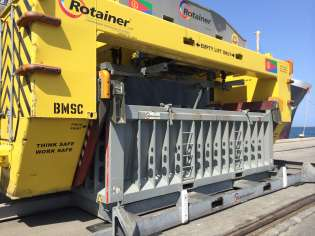 Containerised Bulk Handling, Rotainer, Container Rotation Systems, Ram Revolver, Ramspreaders, ISG Pit to Ship